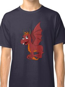 Cute red dragon cartoon Classic T-Shirt