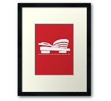 Guggenheim Museum Frank LLoyd Wright Architecture Tshirt Framed Print