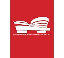 Guggenheim Museum Frank LLoyd Wright Architecture Tshirt Photographic Print
