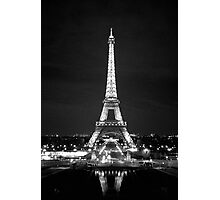 Eiffel Tower At Night Photographic Print