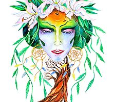 Willow tree. Forest dryad by artcombinat