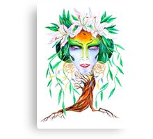 Willow tree. Forest dryad Canvas Print