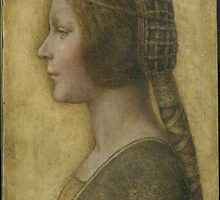 La Bella Principessa - 15th Century - Profile of a Young Fiancee - Leonardo da Vinci by Adam Asar
