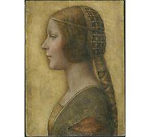 La Bella Principessa - 15th Century - Profile of a Young Fiancee - Leonardo da Vinci Photographic Print