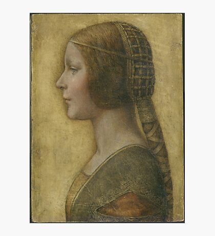 La Bella Principessa - 15th Century - Profile of a Young Fiancee - Leonardo da Vinci Photographic Print