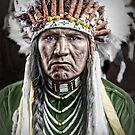 Nez Percé Indian by Kurt  Tutschek