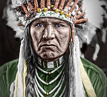 Nez Percé Indian by Kurt  Tutschek