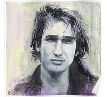 Jeff Buckley Portrait by William Wright Poster