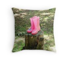lonely boots Throw Pillow