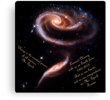 A Rose of Galaxies for Spock Canvas Print