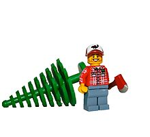 LEGO Lumberjack with a Tree by jenni460