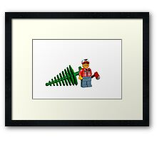 LEGO Lumberjack with a Tree Framed Print