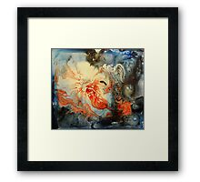Abstract Red and Blue Painting  Framed Print