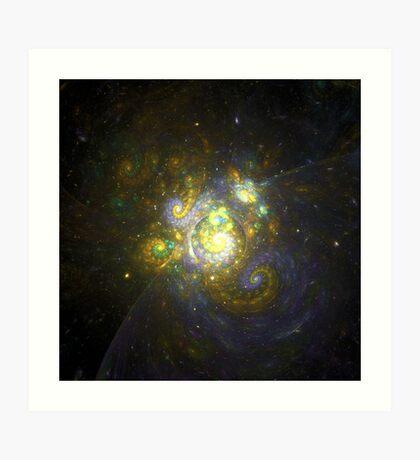 I Choose You [Pikachu Galaxy]  | Fractal Art by Douglas Fresh Art Print