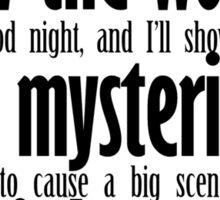 Mysterious Third Verse Sticker