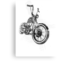 Old School Bobber Motorcycle Canvas Print