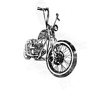Old School Bobber Motorcycle Photographic Print