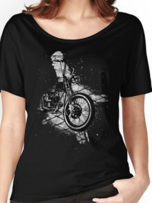 Old School Bobber Motorcycle Women's Relaxed Fit T-Shirt