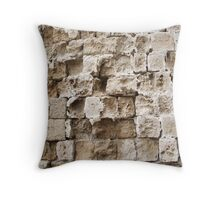 Rhodes Old Town Wall. Throw Pillow
