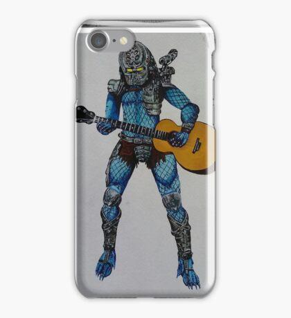 Predator playing guitar iPhone Case/Skin