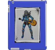 Predator playing guitar iPad Case/Skin