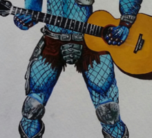 Predator playing guitar Sticker