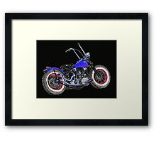 Bobber on Black Framed Print