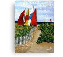 Pathway to Sails Canvas Print