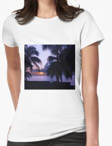 Sunset in Paradise Womens Fitted T-Shirt