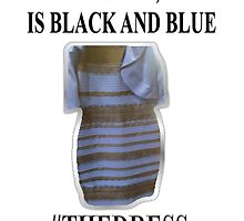 I KNOW, IS BLACK AND BLUE. #thedress by Grod2014