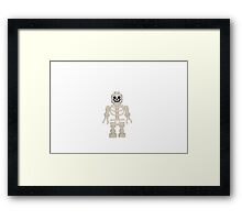 LEGO Skeleton Framed Print