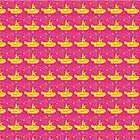 Yellow submarine on pink pattern by Redilion