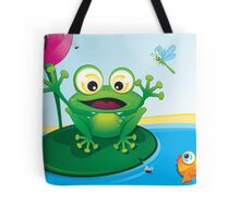 Critterz-Frog-Giggles in the Pond Tote Bag