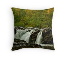 Rapids Above Turtletown Creek West Falls I Throw Pillow