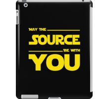 May The Source Be With You - Dark Programmer Shirt iPad Case/Skin