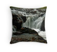 Rapids Above Turtletown Creek West Falls II Throw Pillow