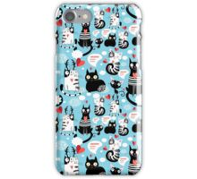 bright pattern cat lovers iPhone Case/Skin