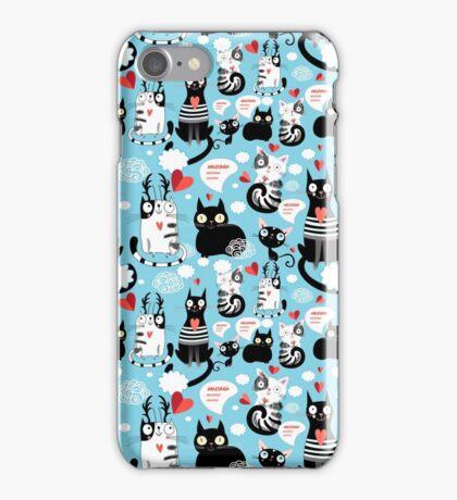 bright pattern cat lovers iPhone Case/Skin