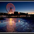 Sunset on Blackpool pier by Shaun Whiteman