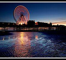 Sunset on Blackpool pier by Shaun Whiteman