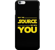 May The Source Be With You - Dark Programmer Shirt iPhone Case/Skin