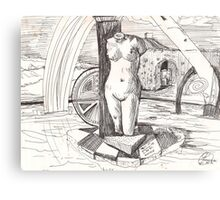 APRODITE(C1996)(INK PEN DRAWING) Canvas Print