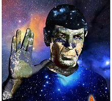 """Into The Darkness"" LLAP Leonard Nimoy, Spock, Star Trek by O O"