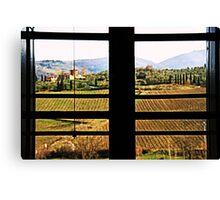 Window on Chianti Canvas Print