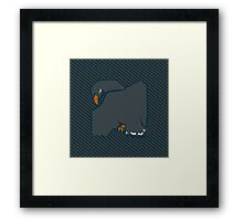 House Pillow: wit and learning Framed Print
