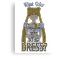 What Color is the Dress? Canvas Print