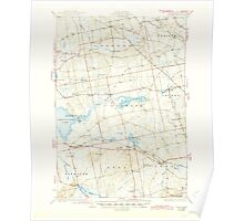 Maine USGS Historical Map Stetson 460930 1935 62500 Poster