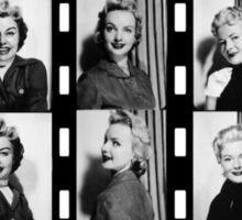 Vintage Photobooth Picture Strips Sticker
