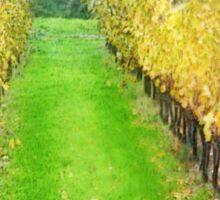 Lamole-Chianti-Toscany on raining day Sticker