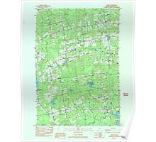 Maine USGS Historical Map Stetson 807207 1982 24000 Poster